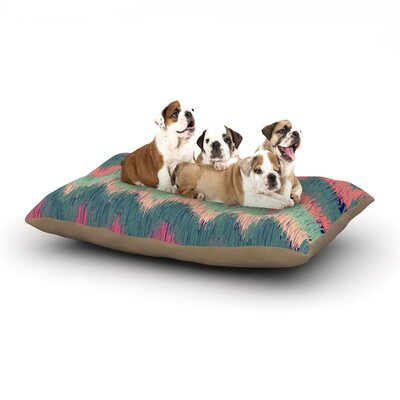 Nika Martinez Ikat Chevron Dog Pillow with Fleece Cozy Top Size: Small (40 W x 30 D x 8 H)