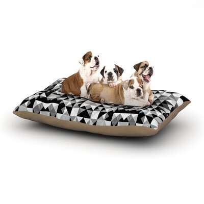 Nika Martinez Geometrie Black & White Dog Pillow with Fleece Cozy Top Size: Small (40 W x 30 D x 8 H)
