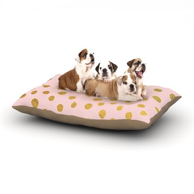 Nika Martinez Golden Dots Blush Dog Pillow with Fleece Cozy Top Size: Small (40 W x 30 D x 8 H), Color: Pink/Gold