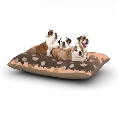Nika Martinez Earth Dots Dog Pillow with Fleece Cozy Top Size: Large (50 W x 40 D x 8 H)