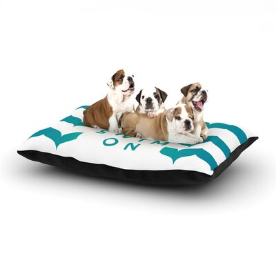 Nick Atkinson Keep Calm and Swim On Dog Pillow with Fleece Cozy Top Size: Small (40 W x 30 D x 8 H)