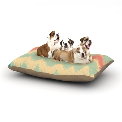 Nika Martinez Ikat Chevron II Dog Pillow with Fleece Cozy Top Size: Large (50 W x 40 D x 8 H)