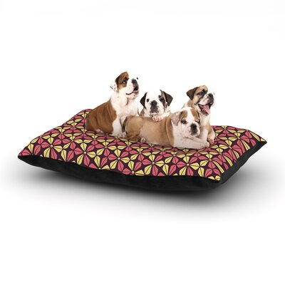 Nick Atkinson Infinite Flowers Dog Pillow with Fleece Cozy Top Size: Small (40 W x 30 D x 8 H), Color: Red