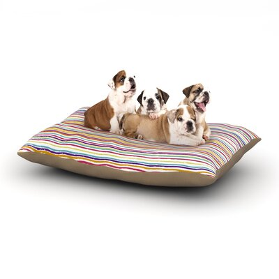 Nika Martinez Summer Stripes Abstract Dog Pillow with Fleece Cozy Top Size: Small (40 W x 30 D x 8 H)