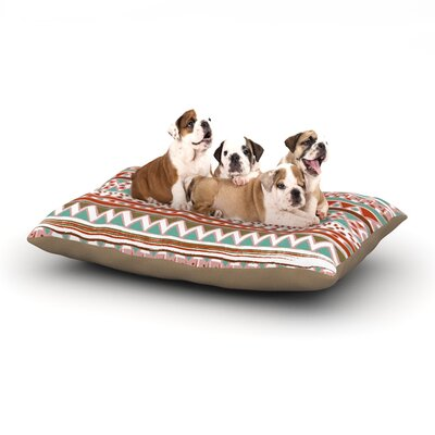 Nika Martinez Boho Mallorca Dog Pillow with Fleece Cozy Top Size: Small (40 W x 30 D x 8 H)