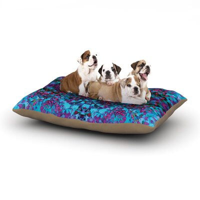 Nikposium Boysenberry Dog Pillow with Fleece Cozy Top Size: Large (50 W x 40 D x 8 H)