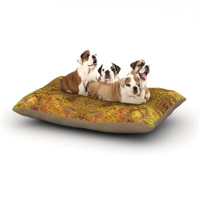 Nikposium Goldenrod Dog Pillow with Fleece Cozy Top Size: Large (50 W x 40 D x 8 H)