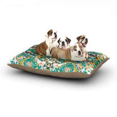 Nikposium Summer Breeze Dog Pillow with Fleece Cozy Top Size: Large (50 W x 40 D x 8 H)