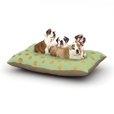 Nika Martinez Golden Dots Blush Dog Pillow with Fleece Cozy Top Size: Large (50 W x 40 D x 8 H), Color: Mint/Green/Gold