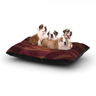 Nick Atkinson Red Zebra Texture Dog Pillow with Fleece Cozy Top Size: Large (50 W x 40 D x 8 H)