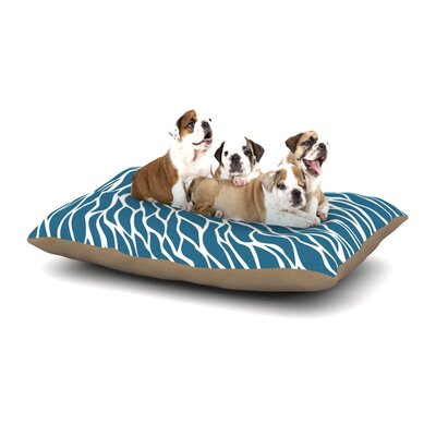 NL Designs Swirls Teal Dog Pillow with Fleece Cozy Top Size: Small (40 W x 30 D x 8 H)