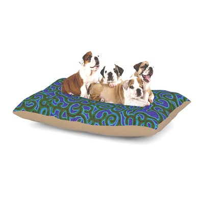 NL Designs Swirling Vines Dog Pillow with Fleece Cozy Top Size: Small (40 W x 30 D x 8 H)