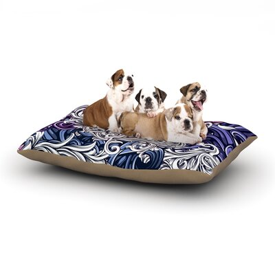 Nick Atkinson Celtic Floral I Abstract Dog Pillow with Fleece Cozy Top Size: Small (40 W x 30 D x 8 H)