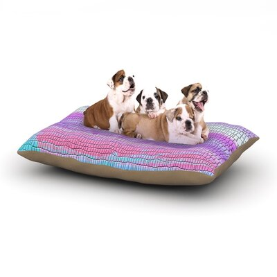 Nina May Drip Dye Warm Strid Dog Pillow with Fleece Cozy Top Size: Small (40 W x 30 D x 8 H)