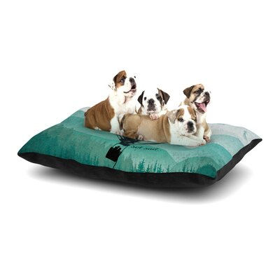Nick Atkinson Heart Set Sail Dog Pillow with Fleece Cozy Top Size: Large (50 W x 40 D x 8 H)