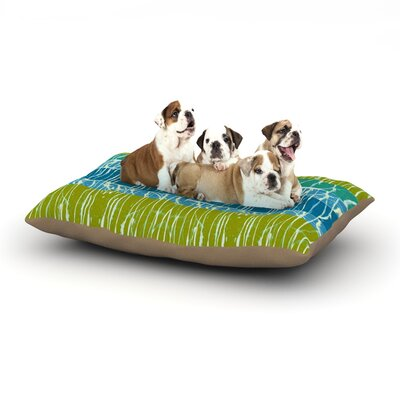 Nina May Ocean Splatter Dog Pillow with Fleece Cozy Top Size: Large (50 W x 40 D x 8 H)