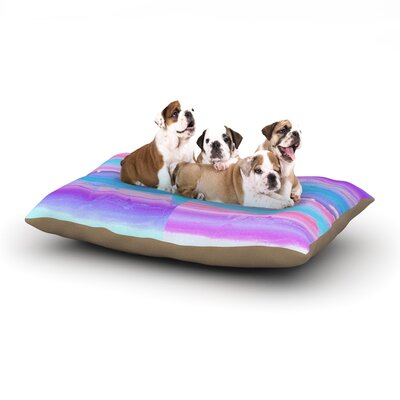 Nina May Drip Dye Paint Pastel Dog Pillow with Fleece Cozy Top Size: Small (40 W x 30 D x 8 H)