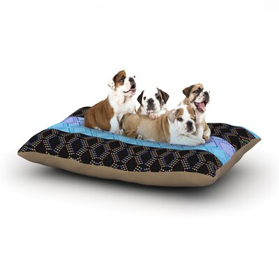 Nina May Denin Diamond Dog Pillow with Fleece Cozy Top Size: Large (50 W x 40 D x 8 H)