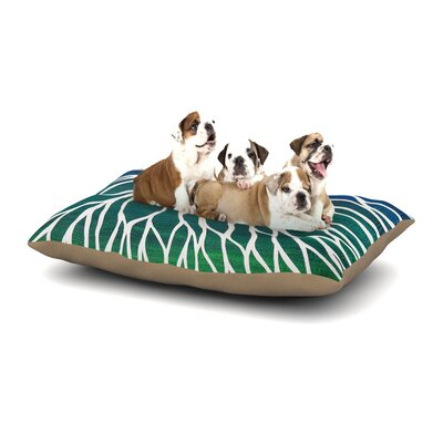 NL Designs Ocean Flower Dog Pillow with Fleece Cozy Top Size: Large (50 W x 40 D x 8 H)
