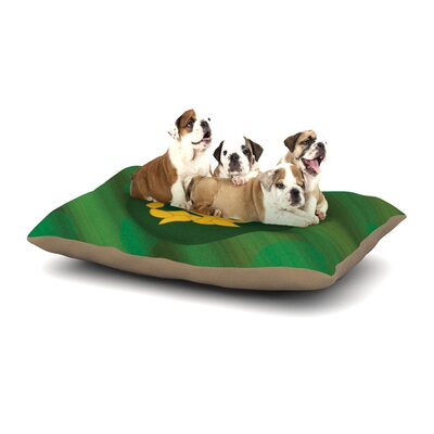 NL Designs Jupiter Emerald Dog Pillow with Fleece Cozy Top Size: Small (40 W x 30 D x 8 H)