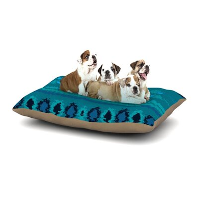 Nina May Nava Tribal Dog Pillow with Fleece Cozy Top Size: Large (50 W x 40 D x 8 H), Color: Turquoise/Teal