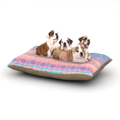 Nina May Denin & Diam New Mexico Pastel Dog Pillow with Fleece Cozy Top Size: Large (50 W x 40 D x 8 H)