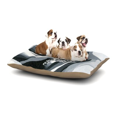 NL Designs Happy Engagement Dog Pillow with Fleece Cozy Top Size: Large (50 W x 40 D x 8 H)