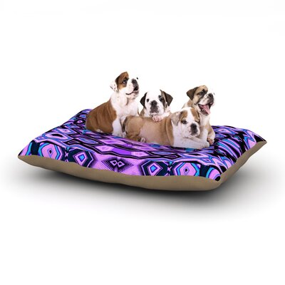 Nina May Deztecca Lilac Dog Pillow with Fleece Cozy Top Size: Large (50 W x 40 D x 8 H)