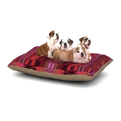 Nina May Larina Nueva Marsala Dog Pillow with Fleece Cozy Top Size: Small (40 W x 30 D x 8 H), Color: Spice Red