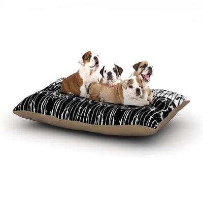 Nina May Century City Splatter Dog Pillow with Fleece Cozy Top Size: Small (40 W x 30 D x 8 H)