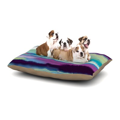 Nina May Artika Dog Pillow with Fleece Cozy Top Size: Large (50 W x 40 D x 8 H), Color: Blue/Teal/Purple