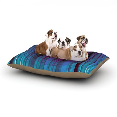 Nina May Nova Sun Geometric Dog Pillow with Fleece Cozy Top Size: Small (40 W x 30 D x 8 H)