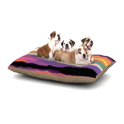 Nina May Artika Dog Pillow with Fleece Cozy Top Size: Large (50 W x 40 D x 8 H), Color: Purple/Orange