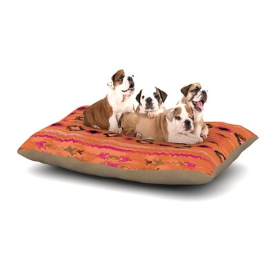 Nina May Navano Tribal Dog Pillow with Fleece Cozy Top Size: Small (40 W x 30 D x 8 H), Color: Orange