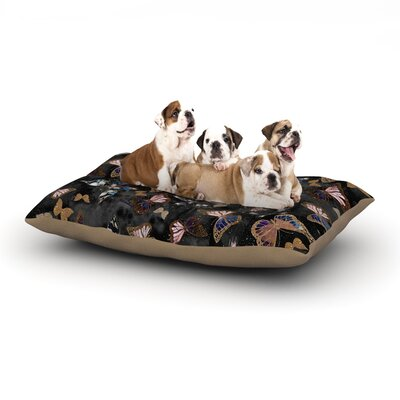 Nikki Strange Galactic Butterfly Dog Pillow with Fleece Cozy Top Size: Large (50 W x 40 D x 8 H)