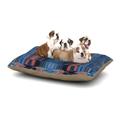 Nina May Larina Nueva Marsala Dog Pillow with Fleece Cozy Top Size: Small (40 W x 30 D x 8 H), Color: Sku Blue