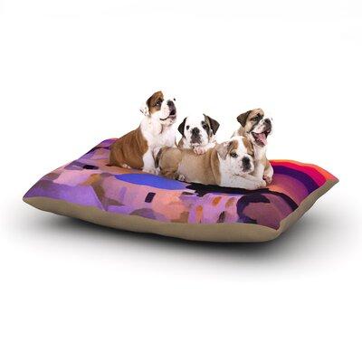 Oriana Cordero My Konos Sunset Dog Pillow with Fleece Cozy Top Size: Small (40 W x 30 D x 8 H)