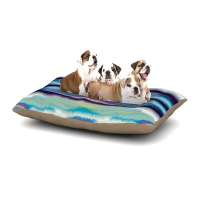 Nina May Artik Blue Stripe Dog Pillow with Fleece Cozy Top Size: Large (50 W x 40 D x 8 H)