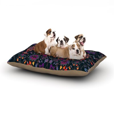 Nikki Strange Bali Tapestry Dark Dog Pillow with Fleece Cozy Top Size: Large (50 W x 40 D x 8 H)