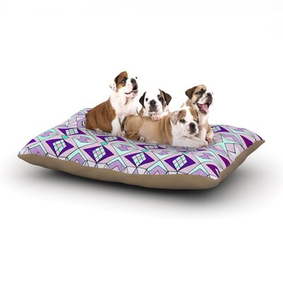 Pom Graphic Design Geometric Flow Geometric Dog Pillow with Fleece Cozy Top Size: Small (40 W x 30 D x 8 H)