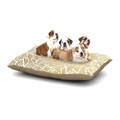Pom Graphic Design Inca Gold Trail Dog Pillow with Fleece Cozy Top Size: Small (40 W x 30 D x 8 H)