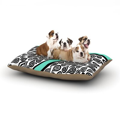 Pom Graphic Design Two Romantic Birds Abstract Dog Pillow with Fleece Cozy Top Size: Small (40 W x 30 D x 8 H)
