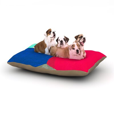 Oriana Cordero Corner Geometry Dog Pillow with Fleece Cozy Top Size: Small (40 W x 30 D x 8 H)