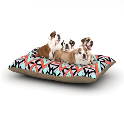 Pom Graphic Design Geometric Mountains Dog Pillow with Fleece Cozy Top Size: Large (50 W x 40 D x 8 H)
