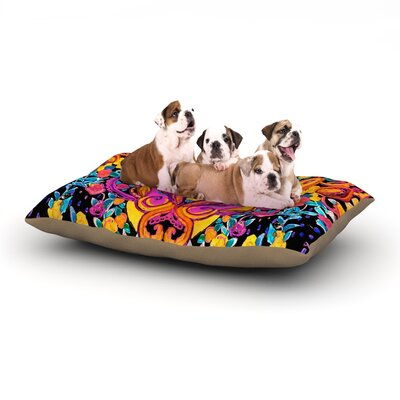 Nikki Strange Paisley Garden Wam Dog Pillow with Fleece Cozy Top Size: Small (40 W x 30 D x 8 H)