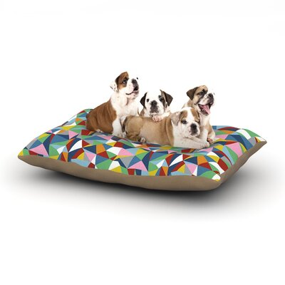 Project M Abstraction Abstract Dog Pillow with Fleece Cozy Top Size: Large (50 W x 40 D x 8 H)