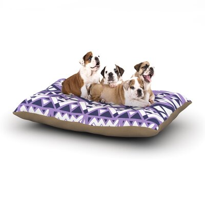 Pom Graphic Design Tribal Simplicity II Dog Pillow with Fleece Cozy Top Size: Large (50 W x 40 D x 8 H)