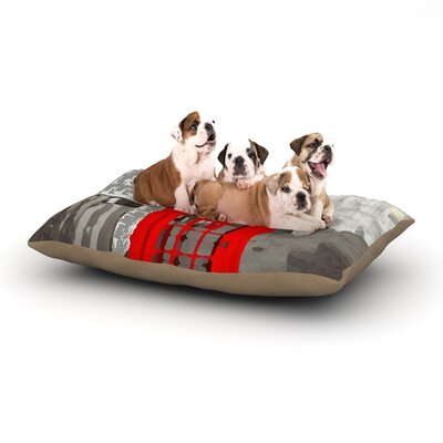 Oriana Cordero London Dog Pillow with Fleece Cozy Top Size: Small (40 W x 30 D x 8 H)