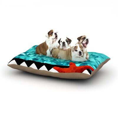Oriana Cordero Turquoise Ocean Dog Pillow with Fleece Cozy Top Size: Large (50 W x 40 D x 8 H)