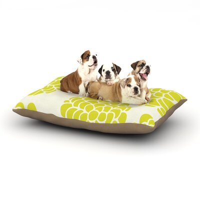 Pom Graphic Design Grape Blossoms Circles Dog Pillow with Fleece Cozy Top Size: Small (40 W x 30 D x 8 H)